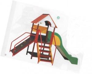 La structure qui sera installée au printemps dans la cours des maternelles