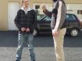 Kevin (à gauche) et Thony Céaglio, notre chef de chantier